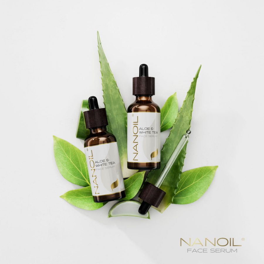 nanoil aloes i biała herbata serum do twarzy