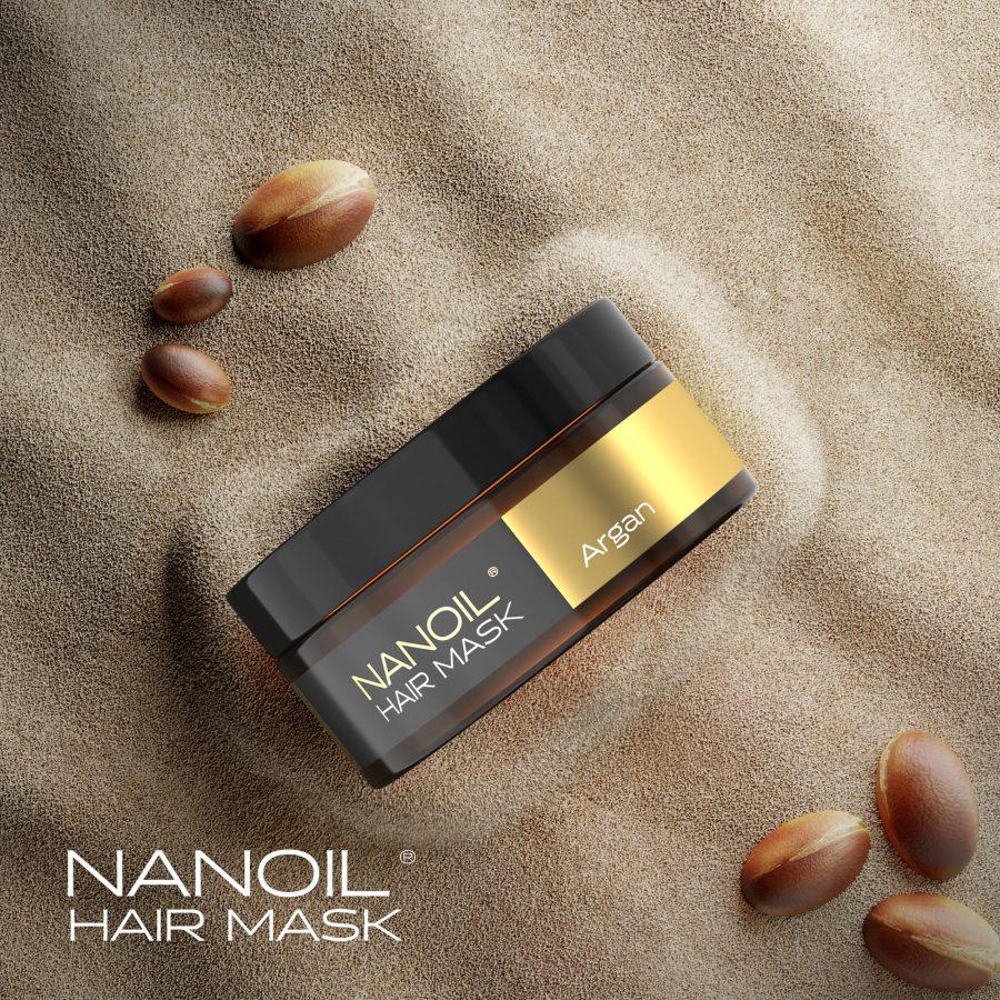 arganowa maska na włosy nanoil