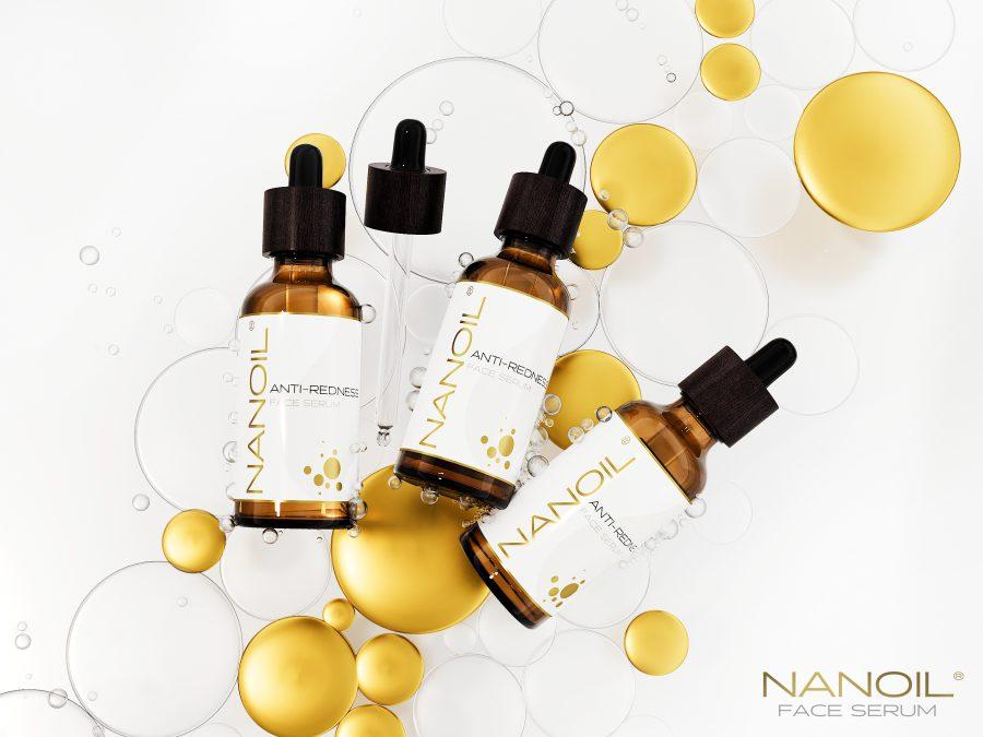 Nanoil serum do twarzy do cery naczynkowej łagodzące podrażnienia